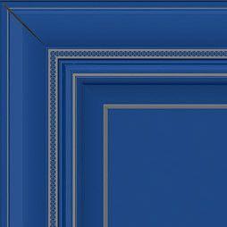 Синий с серебряной патиной