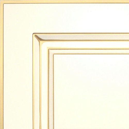 Белый с золотой патиной