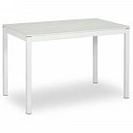 AERO BAMBOO WHITE стол раздвижной; подстолье - металл; белое стекло