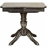 """ORIMEX Кухонный стол """"Рондо-ПР"""" (с резьбой) 85(120)х65 венге с серебряной патиной (877)"""