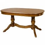 "ORIMEX Кухонный стол ""Рондо-Т"" (с резьбой) 150(195/240)х100 темный дуб (344)"