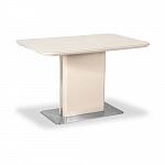 AERO BARBARA 120 CAP 120 (+40) х 80 стол раздвижной; подстолье - лакированное дерево; стекло цвета капучино