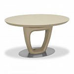 AERO LARGO 140 CR MC SILK стол раздвижной; подстолье - лакированное дерево; стекло кремового цвета